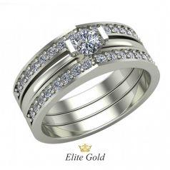 Авторское женское кольцо Nikki в камнях