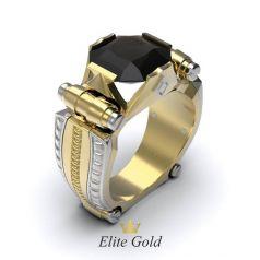Авторский мужской перстень Aleron с крупным квадратным камнем