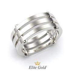 Дизайнерское обручальное кольцо Alexa с болтиками