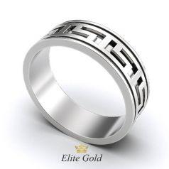 Авторское обручальное рельефное кольцо в стиле бренда Версаче