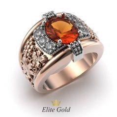 Фантазийное мужское кольцо Alladin с крупным камнем и узорами