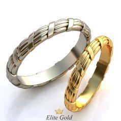 Тонкие обручальные кольца Ribbon с рельефными элементами