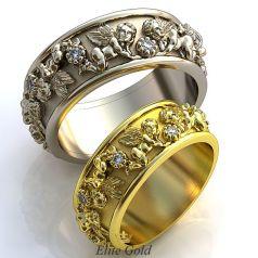Фантазийные обручальные кольца Little Angels с изображением ангелов