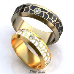 Авторские обручальные кольца Safari с ювелирной эмалью
