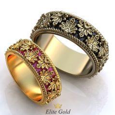 Эксклюзивные обручальные кольца Miracle с ювелирной эмалью и узорами