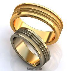 Лаконичные обручальные кольца Casados с сочетанием фактур