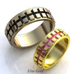 Фантазийные обручальные кольца Salvato с ювелирной эмалью