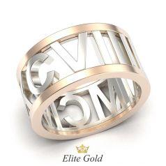 кольцо Mave с римскими цифрами по ободку