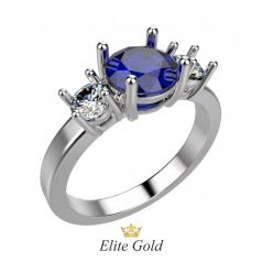 Эксклюзивное женское кольцо Lorraine с камнем по центру