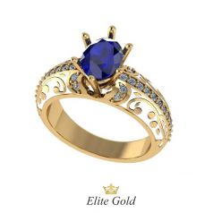 Дизайнерское женское кольцо Fascino с ювелирной эмалью и камнями