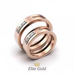 Авторские обручальные кольца Evento с датой свадьбы