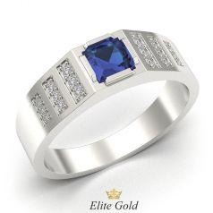 мужское кольцо Condor c квадратным синим камнем по центру