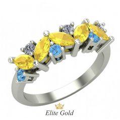 Эксклюзивное женское кольцо Arcobaleno в камнях