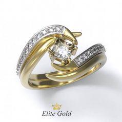 Эксклюзивное женское кольцо Onda в камнях