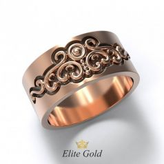 Авторское женское кольцо Alla moda с узорами
