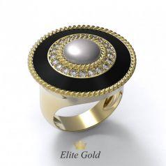 Эксклюзивное женское кольцо Atmosfera с ювелирной эмалью и камнями