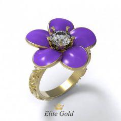 Коктейльное женское кольцо Luminosita в виде цветка с эмалью