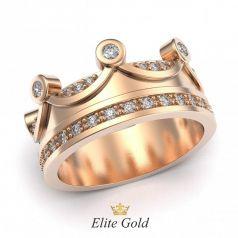Авторское женское кольцо Reina в камнях