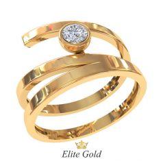 Дизайнерское женское кольцо Espiral
