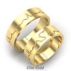 обручальные кольца Heartbeat в желтом золоте 585