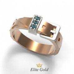 Дизайнерское женское кольцо Creazione в виде ремешка