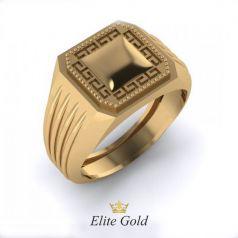 Авторское мужское рельефное кольцо Solar
