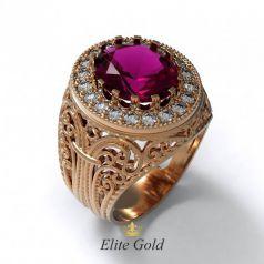 Фантазийное женское кольцо Milagro с узорами и камнями