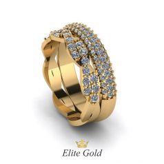 Дизайнерское женское кольцо Ricchezza в камнях