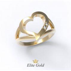 Элегантное женское кольцо Corazon в виде сердца