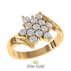 Дизайнерское женское кольцо Flor в камнях