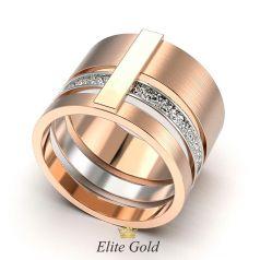 кольцо Romana с рельефной текстурой и матированием