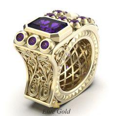 Эксклюзивный перстень The Alchemist с рельефными формами