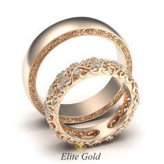 кольца Ника - красное золото 585