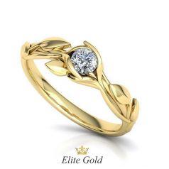 Авторское помолвочное кольцо-солитер Beloved Flora