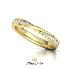 Эксклюзивное обручальное кольцо Mobius с россыпью камней