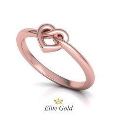 Авторское тонкое кольцо Infinity Knot в виде узла