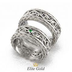 обручальные кольца Almas с узорами