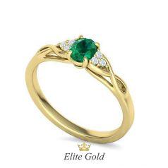 Нежное помолвочное кольцо Delicate с овальным камнем в центре