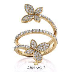 Эксклюзивное кольцо La Farfalla с бабочками