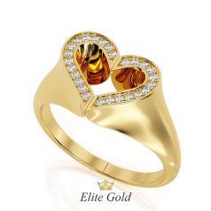 Эксклюзивный женский перстень Double Heart