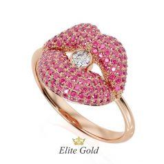 Фантазийное женское кольцо Kiss me more