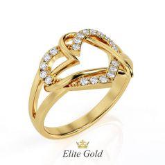 Эксклюзивное кольцо Two Hearts в виде переплетения сердец