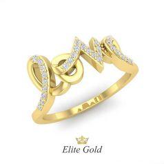 Авторское кольцо-надпись Love
