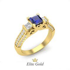 Авторское помолвочное кольцо Libby с квадратным камнем в центре