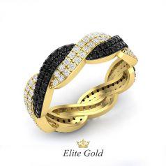 Эксклюзивное кольцо Strada с россыпью камней по всей окружности