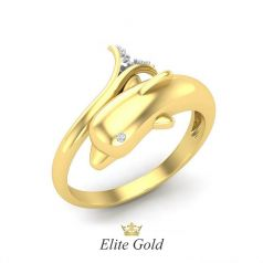 Авторское кольцо Dolphin в форме дельфина