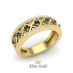 Авторское женское кольцо Seven Stones