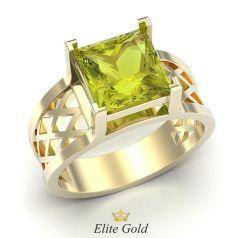 перстень Baden в лимонном золоте 585