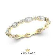 женское кольцо Aspen с камнями по кругу