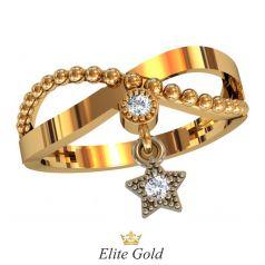кольцо Starla в красном и белом золоте